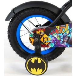 """Batman Cykel 12"""" Med Støttehjul 3-5 År. Fodbremse"""