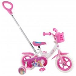 """Disney Prinsesser Cykel 10"""" Med Støttehjul 2-4 År."""