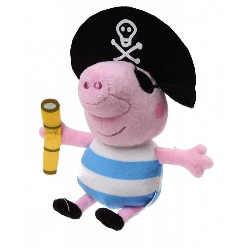 Peppa Pig - Gustav Gris Bamse Pirat 17 cm