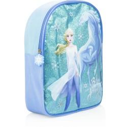 Frozen 2 Rygsæk Glitter Til Piger 34 x 27 x 8 cm Elsa og Hesten Nokk