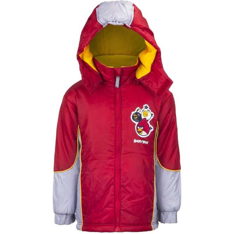 6 år / 116 cm - Angry Birds Vinterjakke Til Drenge - Rød