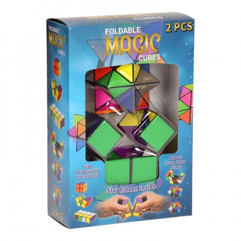 2 Stk. Magic Cube Sammenklappelig