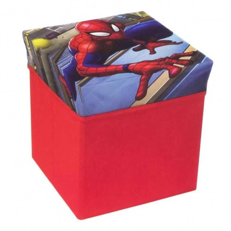 Spiderman Opbevaringsboks og Puff 31x31x33 cm