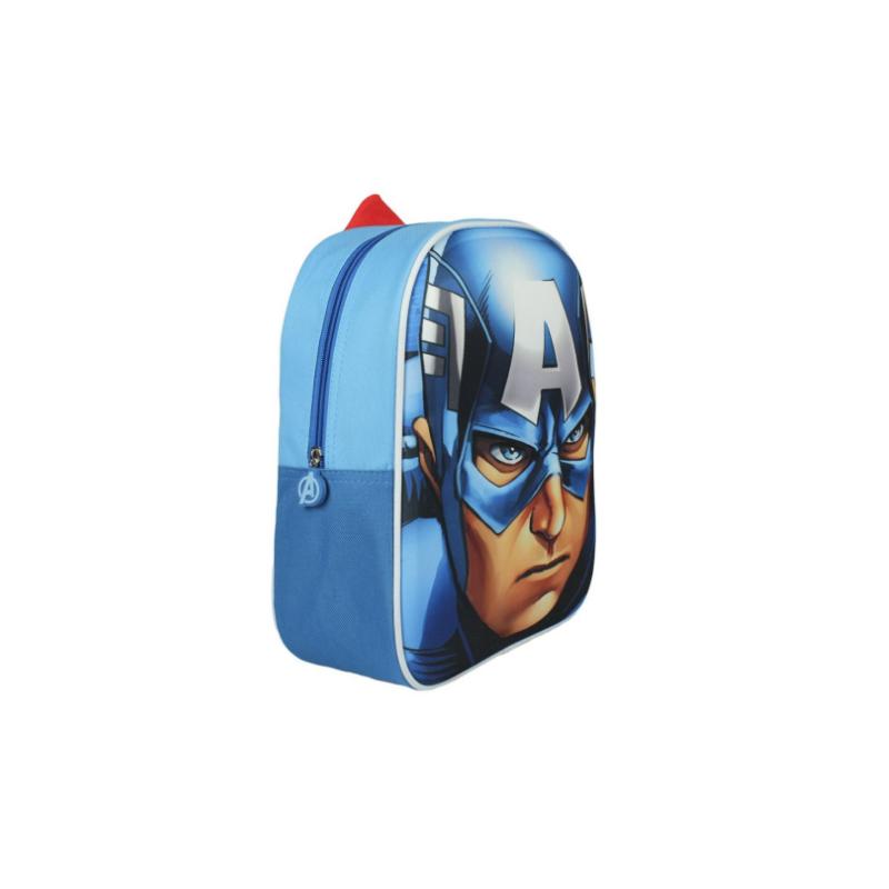 Marvel Avengers Captain America Rygsæk 3D Til Børn 32x26x9 cm
