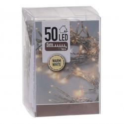 Lyskæde Med 50 LED Dioder - Varm Hvid 5 Meter