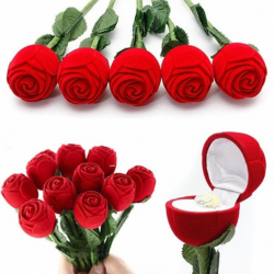 Langstilket Rose Med RingIndsats 30 cm