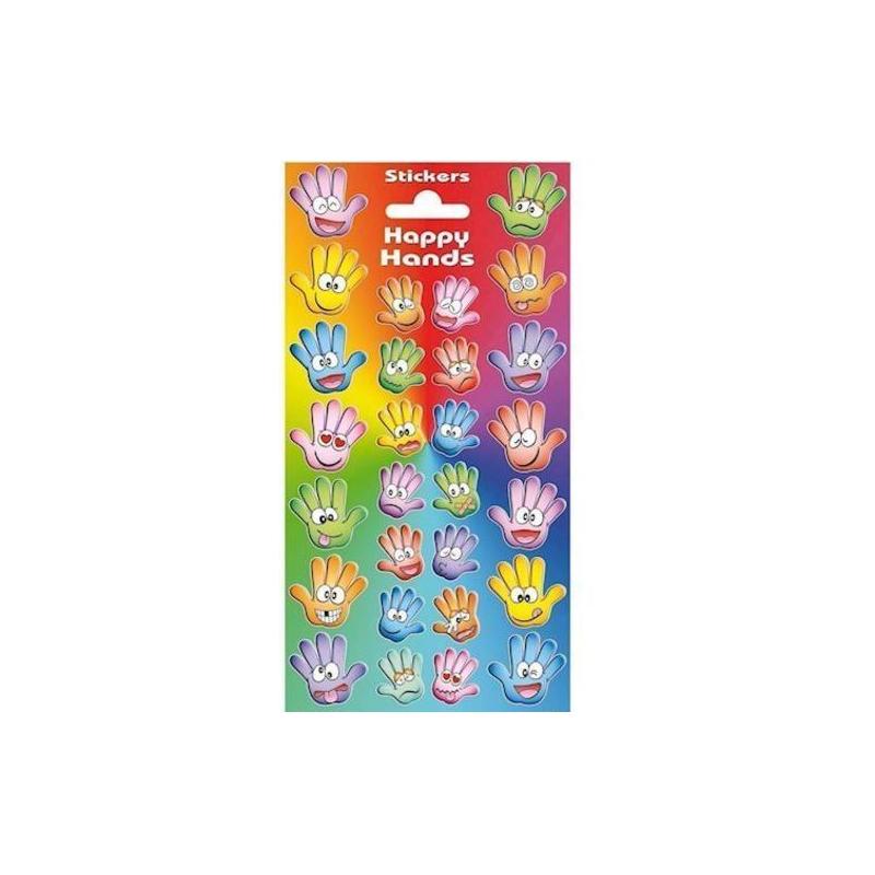 Funny Hands Klistermærker Med Glimmer - Stickers 28 Stk.