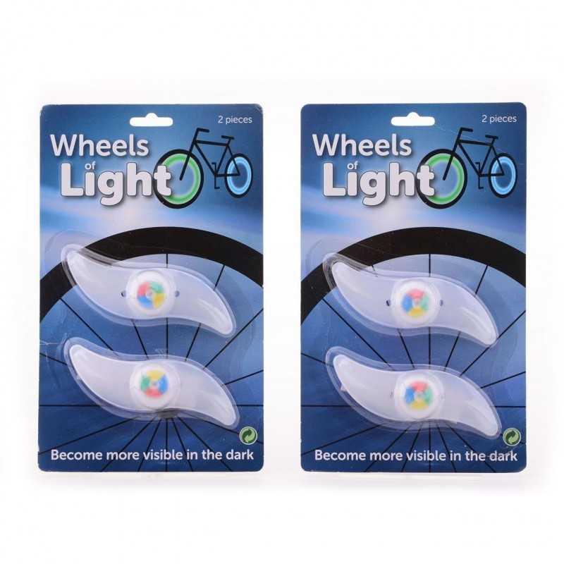 2 Stk. Lys Til Cykelhjul