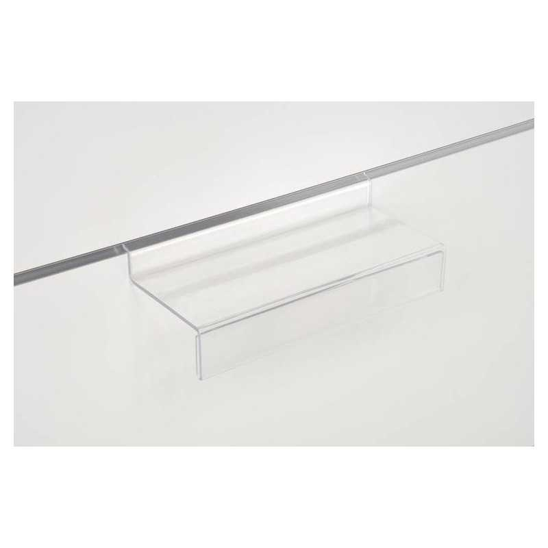 Transparent Akryl Skohylde Til Slatwall 25x13,5cm