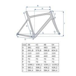"27.5"" MTB Ramme Aluminium Shape Mat Sort : Stel Størrelse - 15"" (38 cm)"
