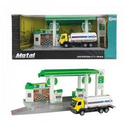 Tankstation Med Truck i Metal