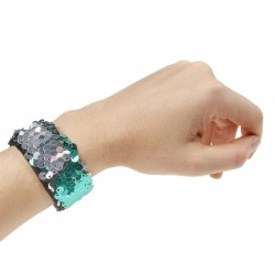 Glitter Klap Armbånd 22 x 3 cm