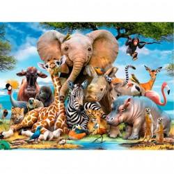 Puslespil Med Afrikanske Dyr 300 Brikker