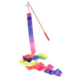 Gymnastik Vimpel Med Regnbue Farver 2,2 Meter