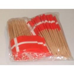100 Stk. Pindeflag Danmark