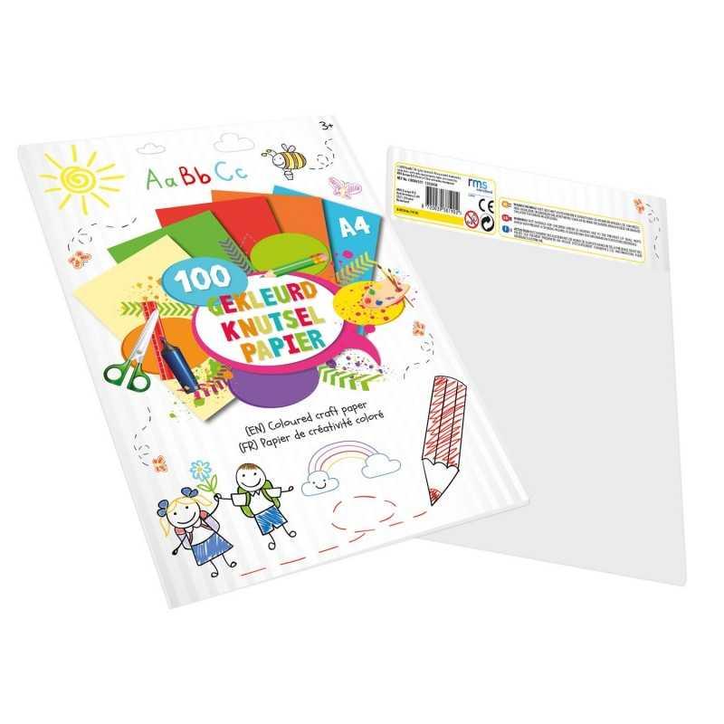 100 Ark Farvet Papir 29,7 x 21 cm (A4)