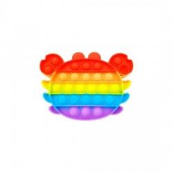 Pop IT Fidget Toys Regnbue Krabbe