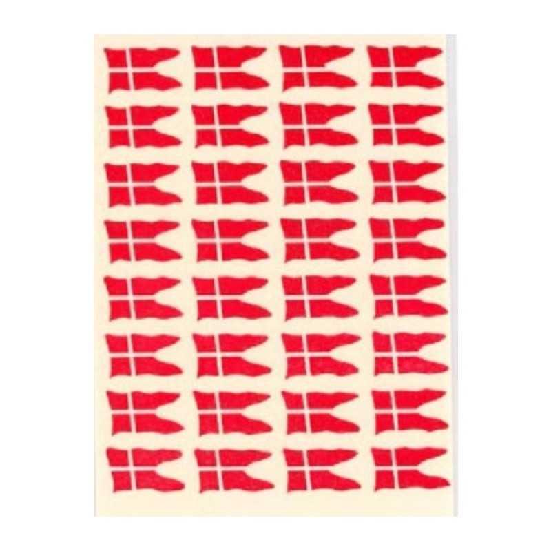 Dansk Flag Stickers 10 stk.