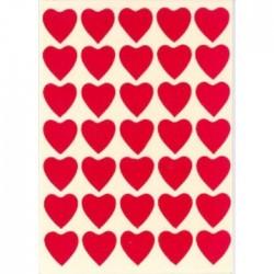 Røde Hjerter Stickers 10 stk.