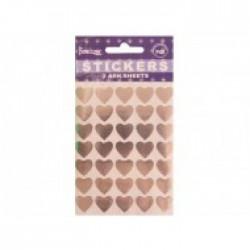 Sølv Hjerter Stickers 10 stk.