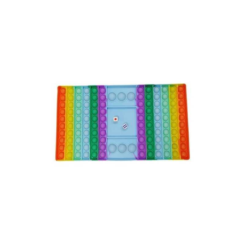 XXL Pop IT Fidget Toys Firkant Rainbow 30 cm