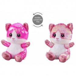 Kat Glitter Bamse 20 cm
