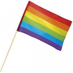 Regnbueflag På Pind