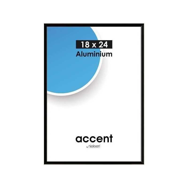 29,7 x 59,4 cm (A2) Nielsen Fotoramme Accent i Aluminium - Mat Sort