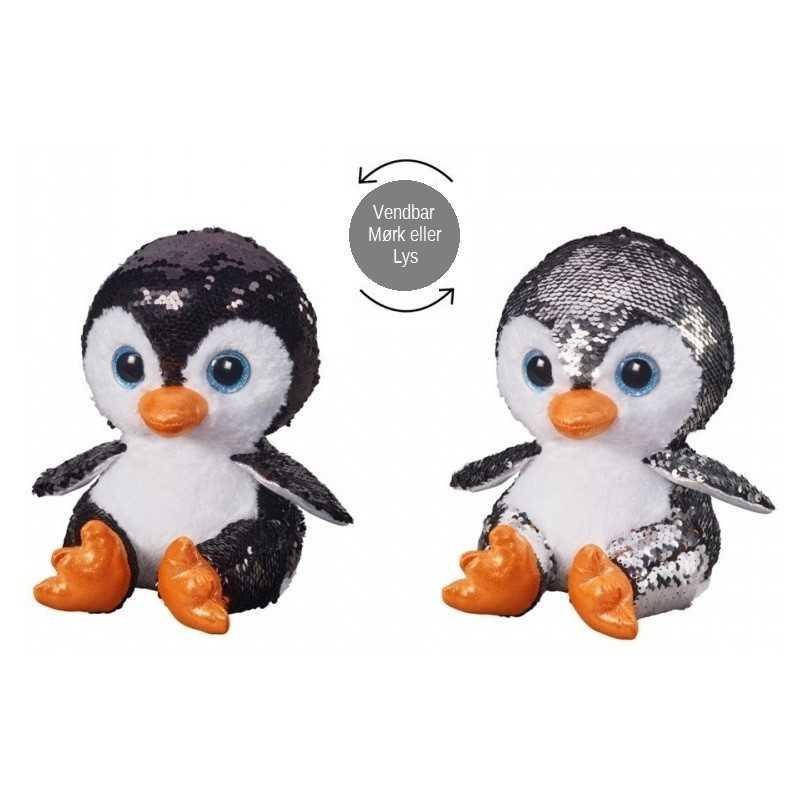 Pingvin Glitter Bamse 20 cm