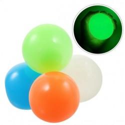 Sticky Balls - 4 stk. Glow in the dark 6,5 cm