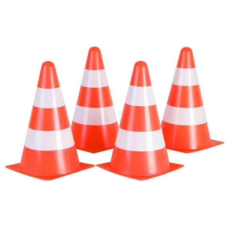 Trafik / Trænings Kegler 4 Stk. Orange / Hvid