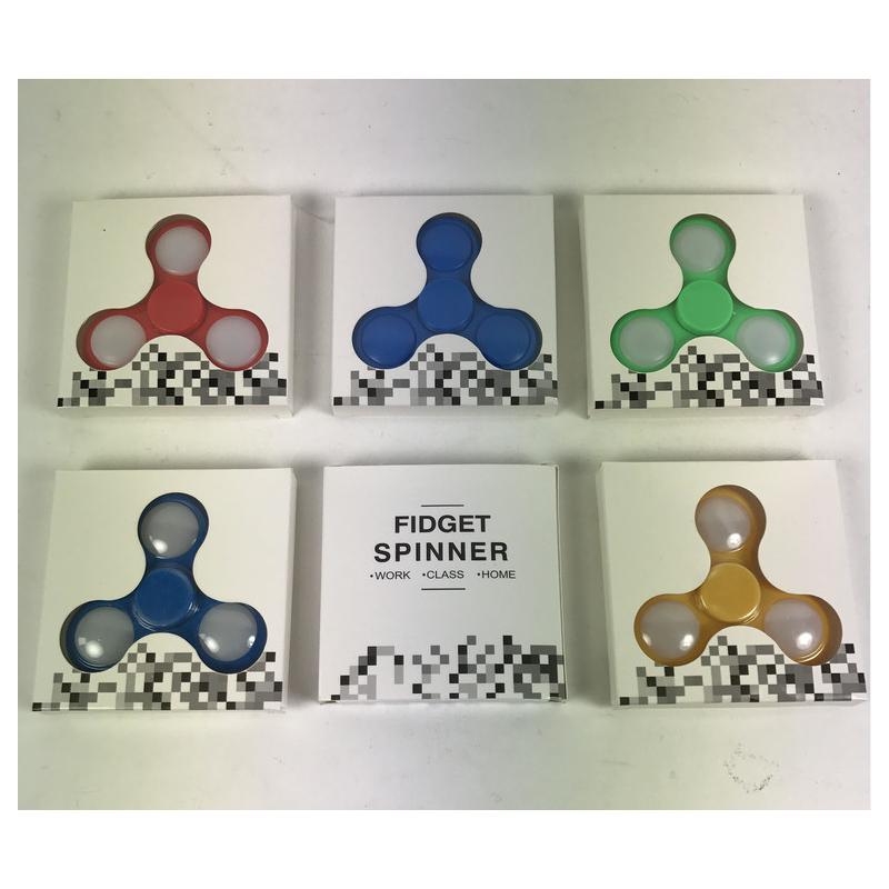 Blå/Hvid - Fidget Spinner Anti Stress