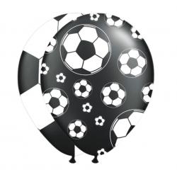 8 Stk. Balloner Med Fodbolde Ø 30 cm Sort/Hvid