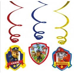 6 Stk. Paw Patrol Hængende Dekorationer