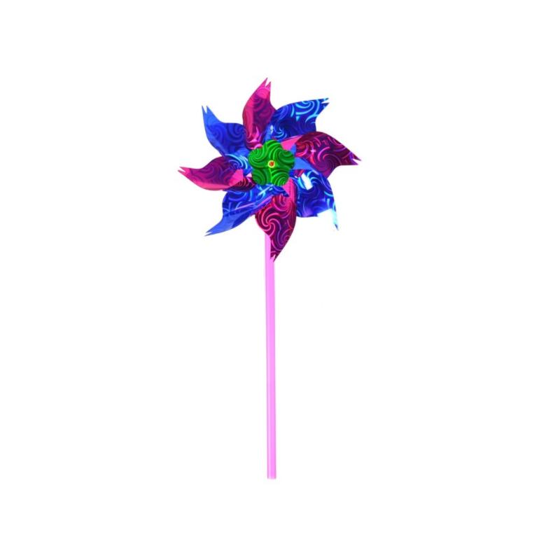 Smuk Glimtende Vindmølle 37 cm : Farve - Lilla
