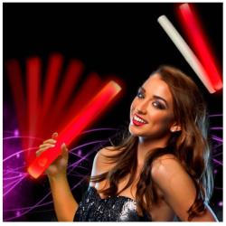 LED Skum Lysrør i Rødt Lys 38,5 cm - Fedt Til Fester!