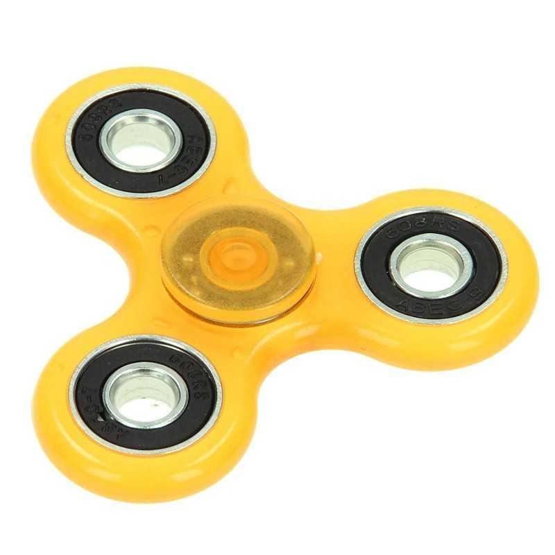 Fidget Spinner Super 360 Anti Stress Orange Selvlyssende