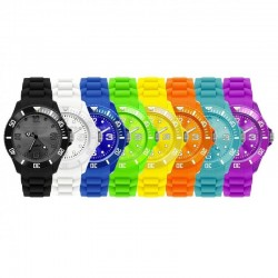 Hvid - Fashion Armbåndsur I Flere Farver Til Damer Og Herre