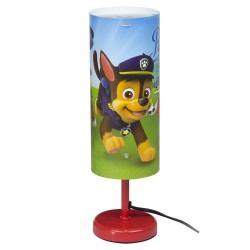 Paw Patrol Bordlampe / Natlampe 29 Cm Høj : Farve - Rød
