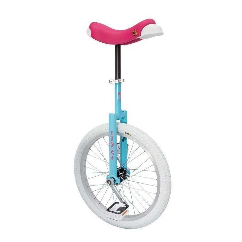 "20"" QU-AX Ethjulet Cykel Luksus Blå/Pink"