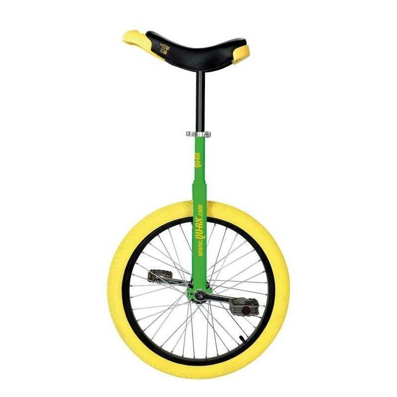 "20"" QU-AX Ethjulet Cykel Luksus Grøn/Gul"