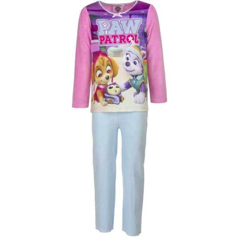 5 år / 110 cm - Lyserød/Hvid Paw Patrol Velour Pyjamas / Nattøj Til Piger