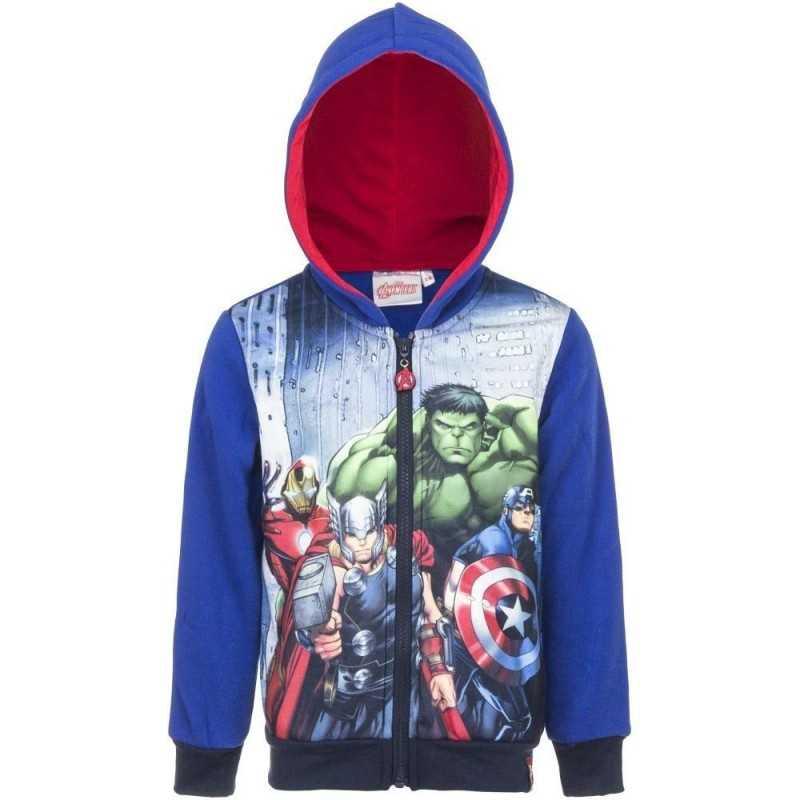 10 år / 140 cm - Blå Marvel Avengers Hættetrøje Til Børn