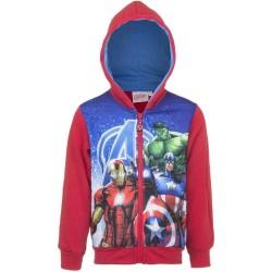 8 år / 128 cm - Rød Marvel Avengers Hættetrøje Til Børn