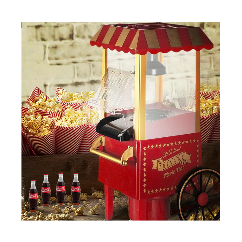Popcornmaskine til Hjemmebrug Retro - Lav Nemt Dine Egne Popcorn