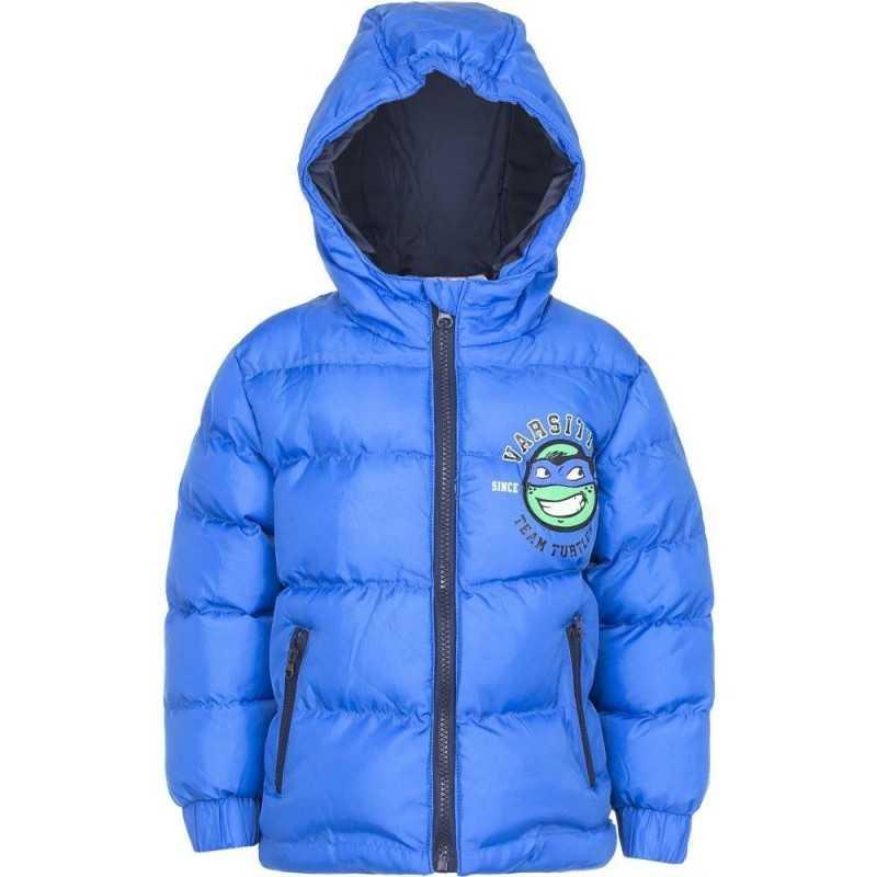 8 år / 128 cm - Blå Varm Vinterjakke Med Ninja Turtles