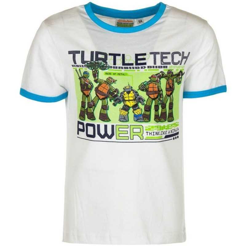 3 år / 98 cm - Hvid Ninja Turtles T-shirt Til Børn