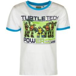 8 år / 128 cm - Hvid Ninja Turtles T-shirt Til Børn