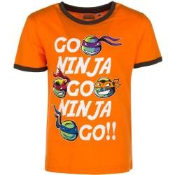 6 år / 116 cm - Orange Ninja Turtles T-shirt Til Børn