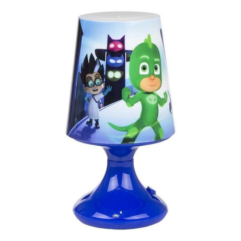 Blå - Pyjamasheltene Bordlampe Til Børneværelset 18x10 cm
